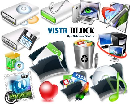 Vista Black Icons