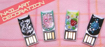 microSD-кардридер Nail Art: роскошный до кончиков ногтей